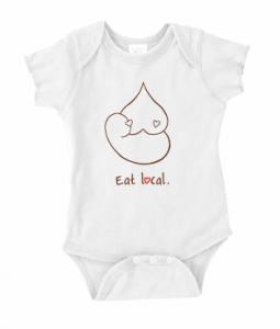 Eat Local breastfeeding onesie