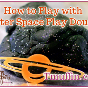 Black Play Dough from Outer Space